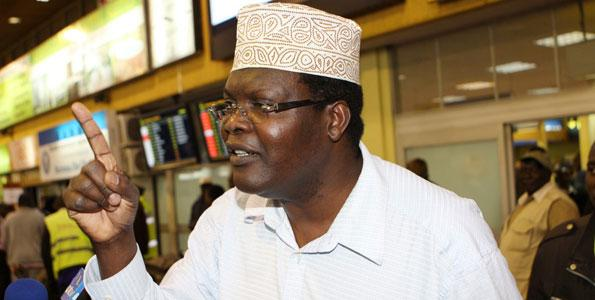 Exiled lawyer Miguna Miguna. He has faulted Sonko's move to hand over Nairobi County functions to the National Government